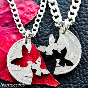 Butterfly-Necklace-Interlocking-Relationship-Jewelry-Hand-Cut-Quarter