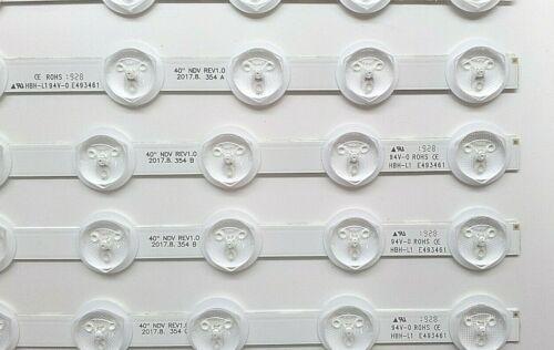 """Kit 5 Streifen VESTEL REV0.2 A TYPE 40 /"""" Ndv REV1.0 VES390UNDA VES390UNDC"""