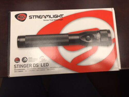 Streamlight Stinger DS LED W// 12V DC Charger 75812 Strobe Dual Switch 350 Lumens