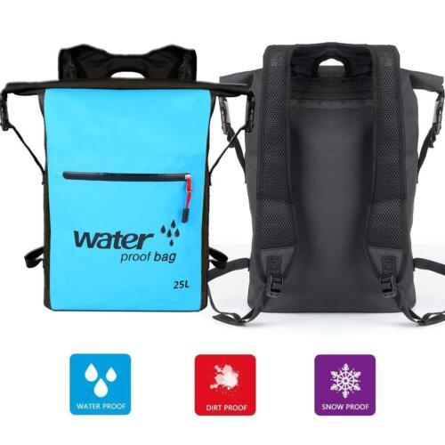 25L Waterproof Dry Bag Backpack Rucksack Canoe Kayak Surfing Storage Pack Raft
