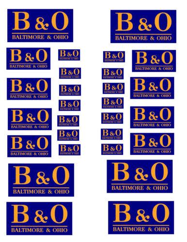 SHEET OF B & O  STICKERS (8.5 X 11)    HO scale