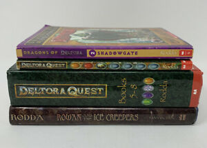 DeltoraQuest-Special-Edition-Books-5-8-By-Emily-Rodda-Hardcover-Rowan-Lot-of-4