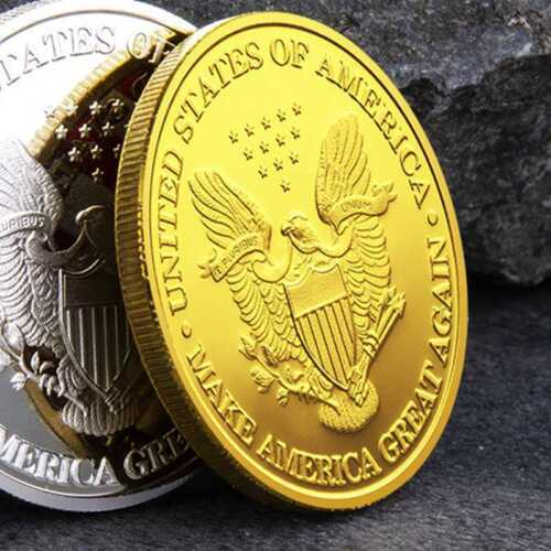 New President Donald Trump Inaugural Gold Plated Commemorative Novelty Coin KY