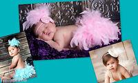 ★★★NEU Baby Fotoshooting creme Federhose & Federkopfschmuck 0-6 Monate★★★Nr.K