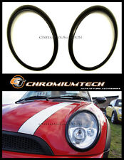 MK1 R50 R52 MINI Cooper/ONE BLACK Head Light Surrounds for non-Xenon Headlight