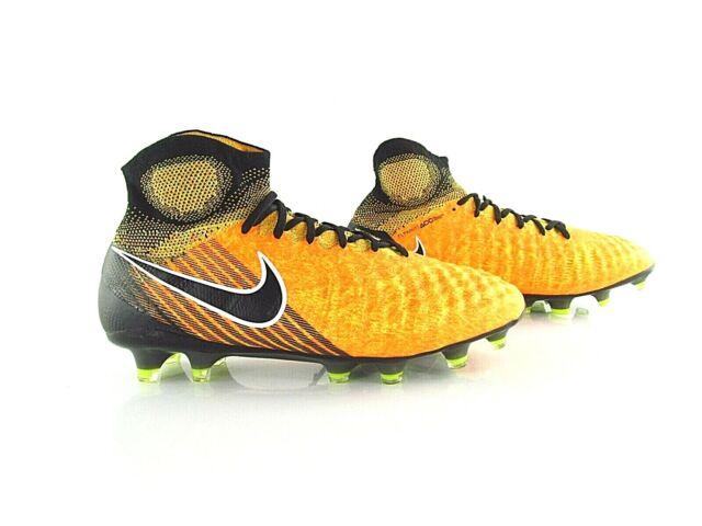 Nike Magista Obra II FG ACC Yellow Black UK 6 US 7 EUR 40