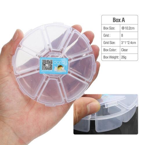 Plastic Fishing Lure Spoon Hook Bait Tackle Box Fly Fishing Storage Box Case