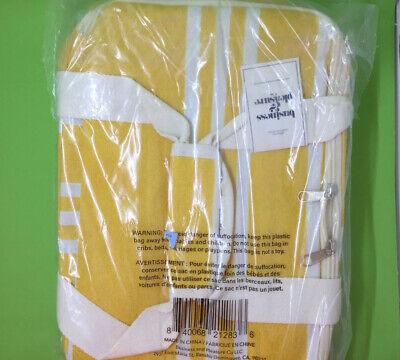 Business /& Pleasure Co Insulated Cooler Bag Yellow Stripped FabFitFun NEW