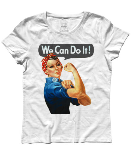 T-shirt donna WE CAN DO IT MANIFESTO FEMMINISMO Rosie the Riveter 2