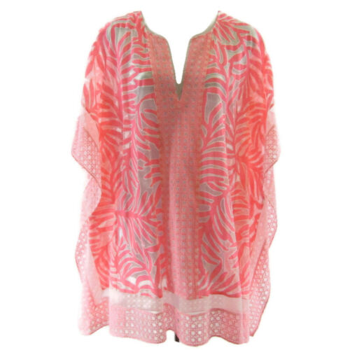 Lilly Pulitzer Lindamarie Caftan Coverup Pink Whit