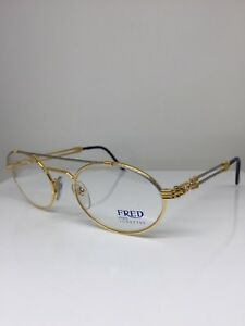 408591cb37bd75 New Vintage FRED Lunettes Winch Gold Bicolore C. 001 Eyeglasses Made ...