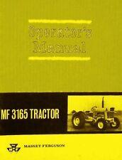 Massey Ferguson MF 3165 MF3165 Tractor Owners Operators Manual
