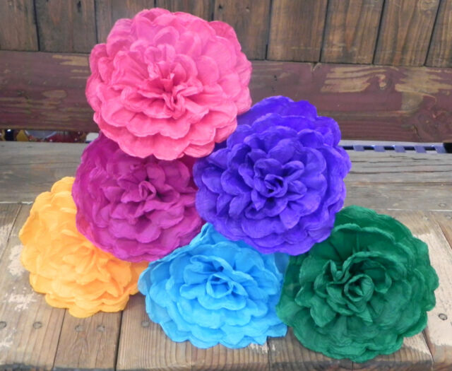 Mexican crepe paper flowers set of 6 multicolor ondaswe make mexican crepe paper flowers set of 6 multicolor ondaswe make special orders mightylinksfo