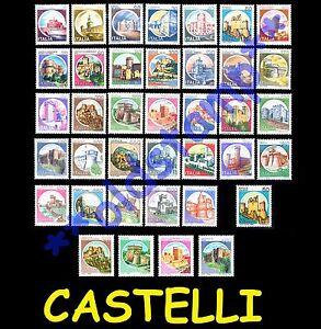 Castelli-d-039-Italia-1980-1991-Rotocalco-1994-MNH-LUSSO-singolo-e-serie-completa