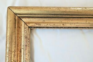 ANTIQUE-FIT-8-X-10-LEMON-GOLD-GILT-PICTURE-FRAME-WOOD-FINE-ART-COUNTRY-PRIMITIVE