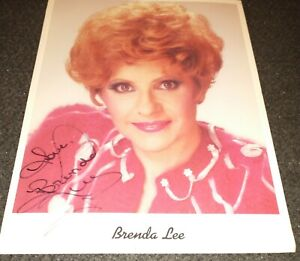 Brenda-Lee-autographed-8-x-10-color-publicity-photo-hand-signed-autograph