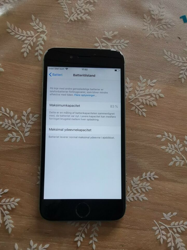 iPhone 6, 64 GB, sort