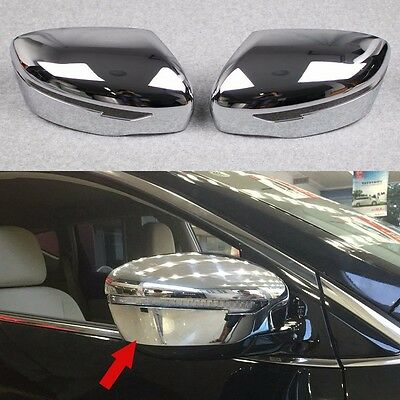 2pcs Chrome Car Rear View Side Mirror Cover Trim fit for 2015-2019 Nissan Murano