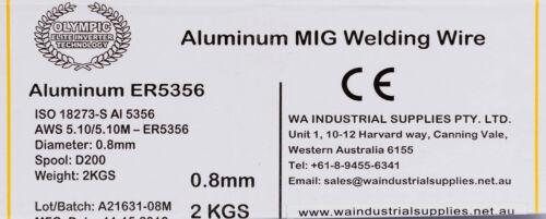 5356 0.8MM X 2KG SPOOL ALUMINIUM WELDING WIRE OLYMPIC