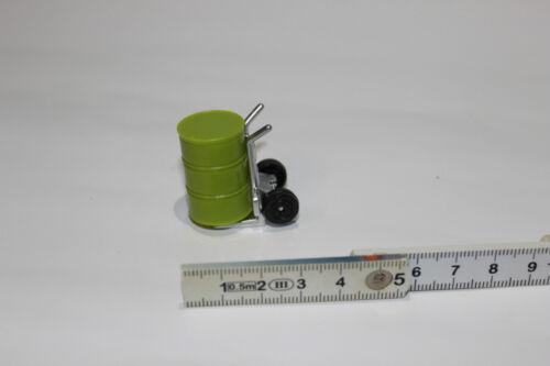 Sackkarre mit Ölfaß grün 1:32  NEU