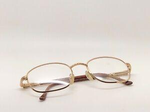 Vintage-Hilton-Monaco-301-3-Gold-Eyeglasses-Optical-Frame-Lunettes-Eyewear-RX