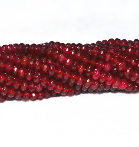 """AA4x6mm Beautiful Faceted Red Garnet Roundel Beads 15 /"""""""