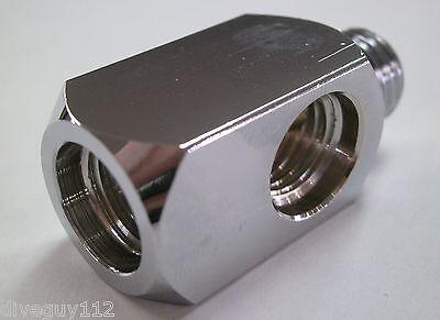 "Adapter Splitter Block 7/16"" Male x 7/16 Female x2 HP Hose Scuba Diving S137"