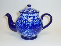 Grace's Pantry Cobalt Blue+white Ceramic Tea+coffee Pot,teapot-6 Cups