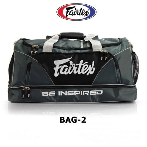 NEW FAIRTEX HEAVY DUTY GYM BAG BAG2 GRAY GEAR EQUIPMENT MUAY THAI BOXING MMA K1