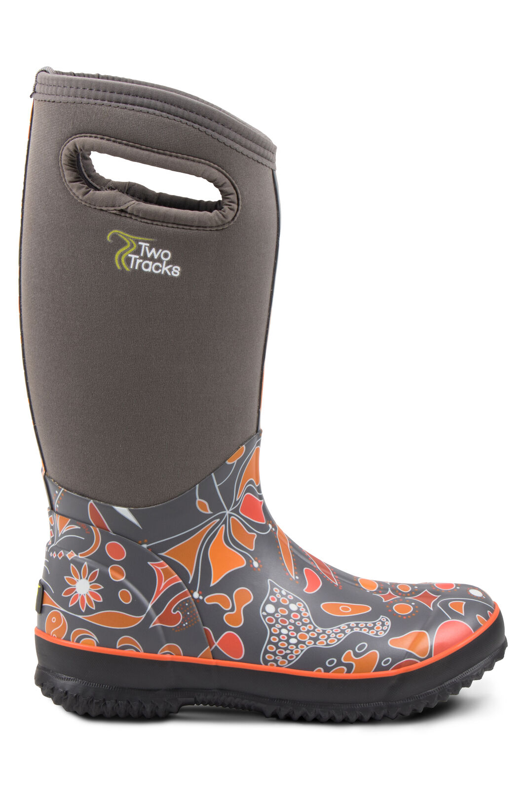 TwoTracks Neoprenstiefel purple orange Hoch Outdoorstiefel Gummistiefel