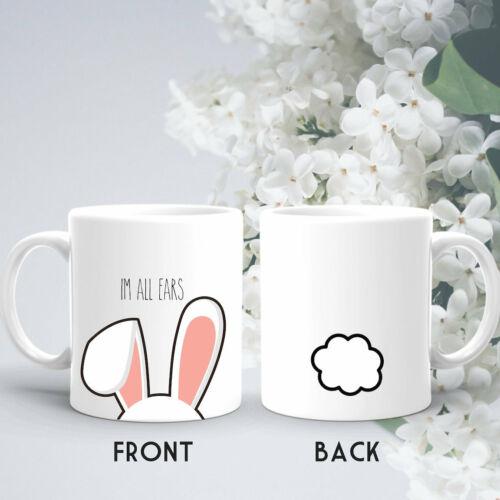 Cute Rabbit Mug Bunny Mug Gift For Easter Im All Ears Mug Coffee Mug