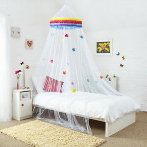 Double Bed Canopy rainbow bed canopy with decorated flowers for single double or