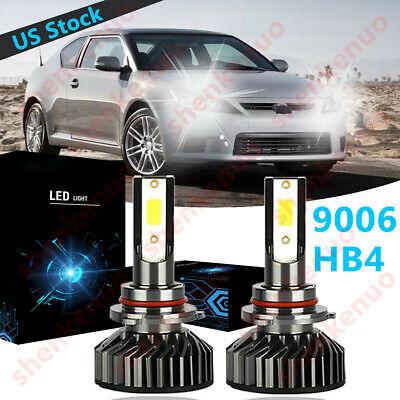 4Side 9006 LED Headlight Bulb Low Beam 6000K White 100W For Scion tC 2005-2008
