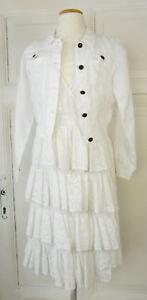 Charmant Lino Factory Createur Robe & Bolero Veste Communion Taille 10/140 Blanc (b366)-afficher Le Titre D'origine Le Plus Grand Confort