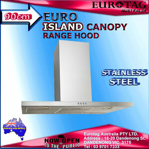 Image is loading EURO-APPLIANCES-EP900ISX2-90CM-STRAIGHT-ISLAND-CANOPY- RANGEHOOD-  sc 1 st  eBay & EURO APPLIANCES EP900ISX2 90CM STRAIGHT ISLAND CANOPY RANGEHOOD box ...