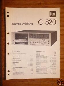 Service-manual Für Dual C 820 Tape Deck Original Angenehm Zu Schmecken