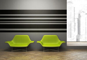 Image Is Loading Stripe Wall Decal Horizontal Wall Art Horizontal Striped