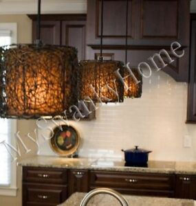 Twisted Woven Rattan Wicker MINI Chandelier HORCHOW ...
