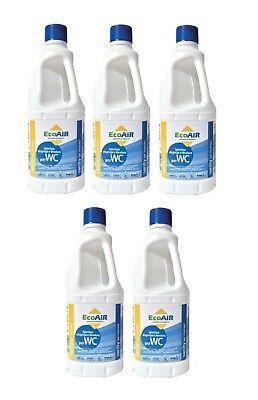 Fornito Disgregante Sanity 1 Litro Wc Aque Nere Camper Comparabile Aqua Kem - 5 Pezzi