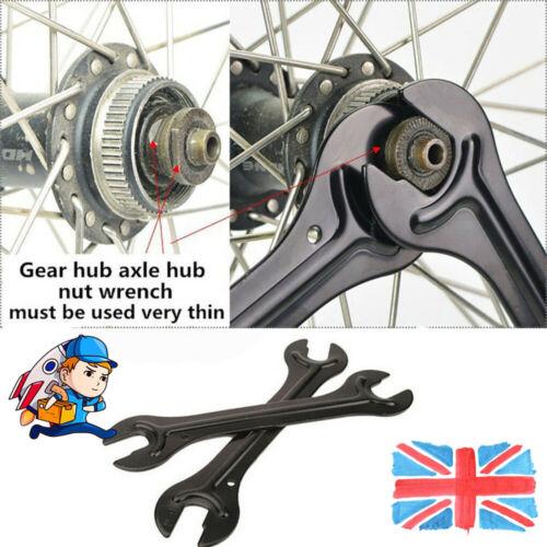 1 Pair Bicycle Repair Tool Spanner Steel Bike Head Open End Axle Hub Cone Wrench