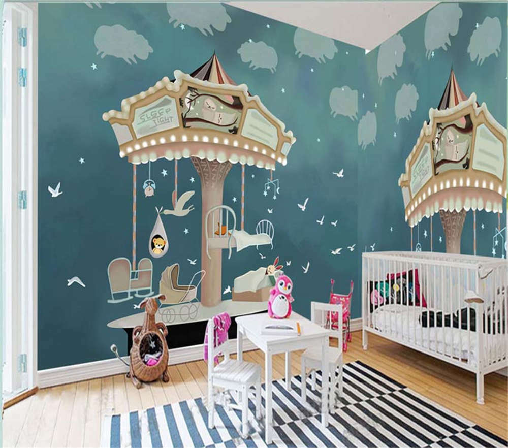 redating Wooden Bird 3D Full Wall Mural Photo Wallpaper Printing Home Kids Decor