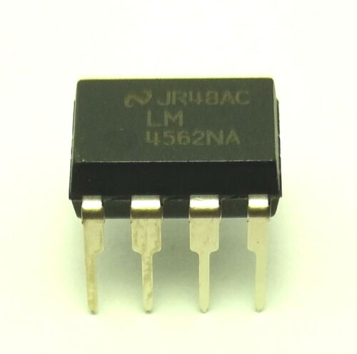 4PCS National Semiconductor LM4562NA LM4562 4562 Dual OpAmp DIP-8 New IC
