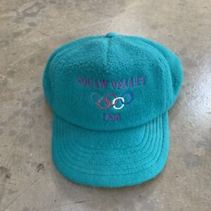 VTG Polartec Made In USA Squaw Valley 1960 Winter OlympicS Fleece Snapback O/s