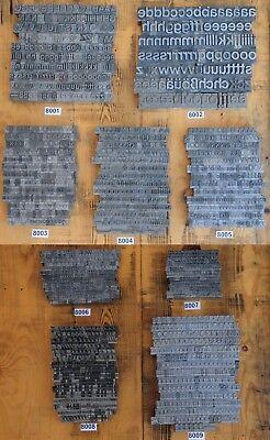Zielsetzung Bleischrift * 1 Set Zur Auswahl * Bleisatz Letter Lettern Buchstaben Bleilettern Tropf-Trocken