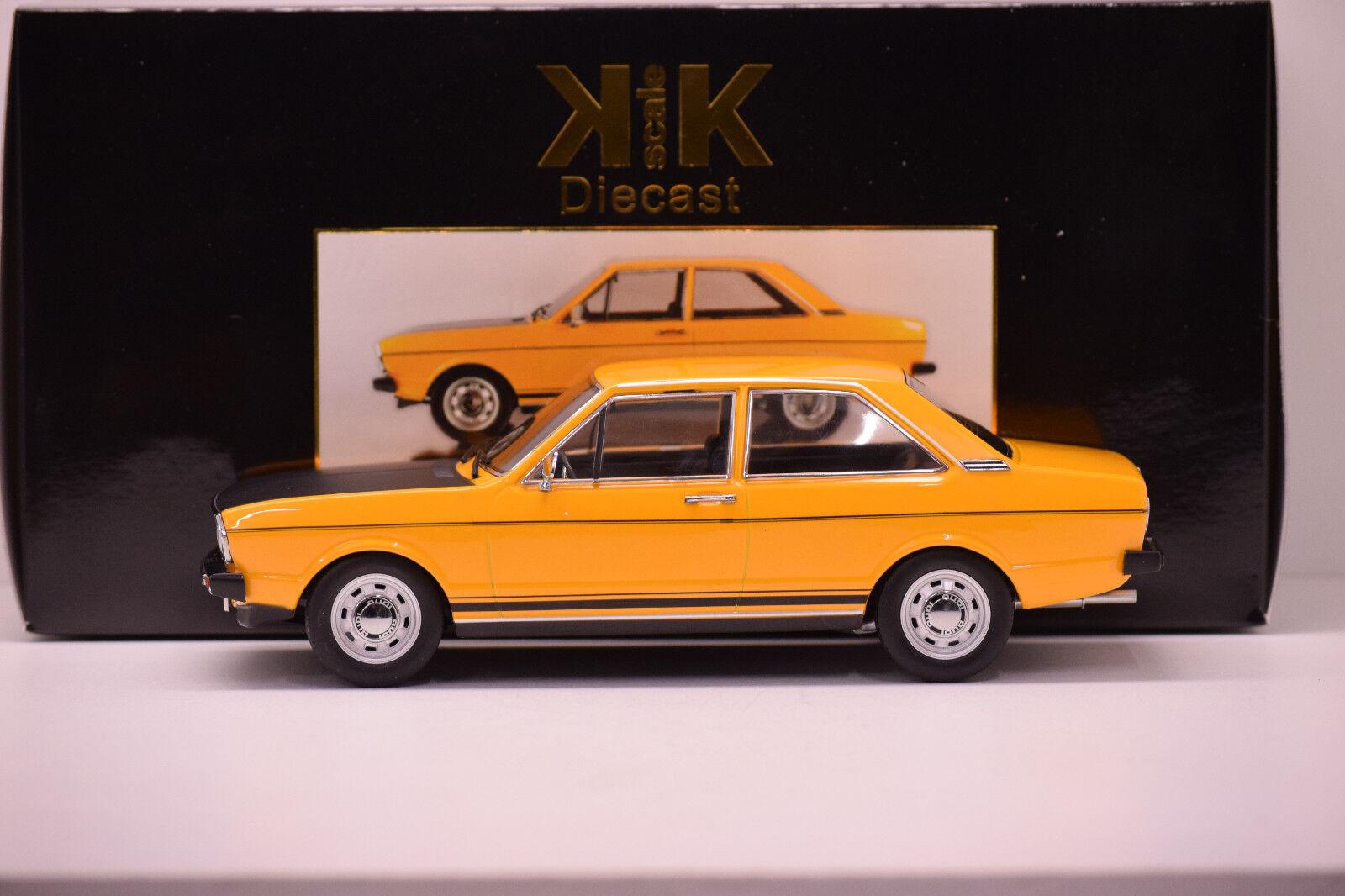 AUDI 80 GTE B1 1975 arancia KK SCALE 1 18 NEUVE EN BOITE