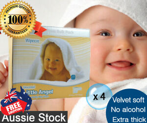 4-Boxed-of-6-pk-Little-Angel-Baby-80-Wipes-Unscented-Fragrance-Free-1920-wipes