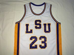 Image is loading PETE-MARAVICH-LSU-Tigers-White-Basketball-Jersey-Gift- d3be3693c