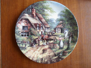 Wedgwood-Plate-034-The-Apple-Pickers-034-By-Chris-Howells-034-Country-Days-034-1991