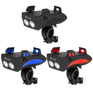 WEST-BIKING-4000mAh-Bicycle-Headlight-Front-Lamp-MTB-Bike-Phone-Holder-TN2F