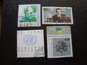 Germany-Rfa-Stamp-Yvert-and-Tellier-N-1634-A-1637-Obl-A5-Z